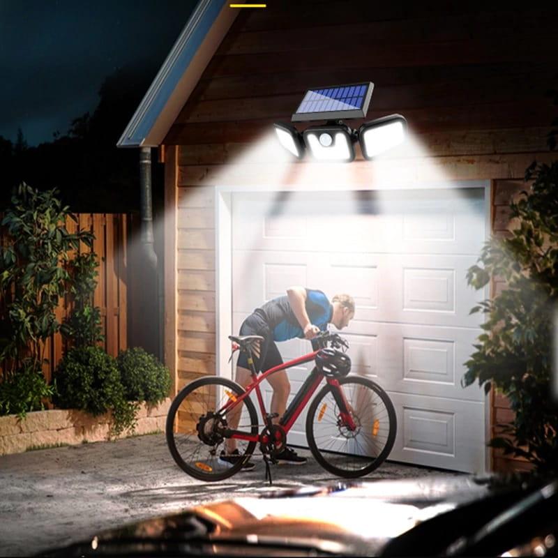 lampa zewnętrzna LED z czujnikiem i panelem solarnym