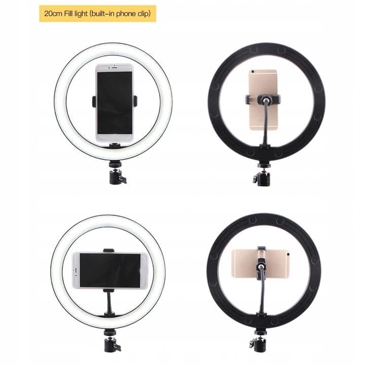 lampy pierścieniowe - mocowanie na telefon